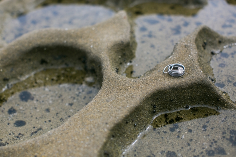 Whispering Sands Beach Wedding Rings Photo